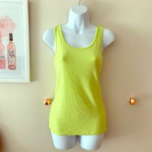 Chartreuse Sequin Tank Top